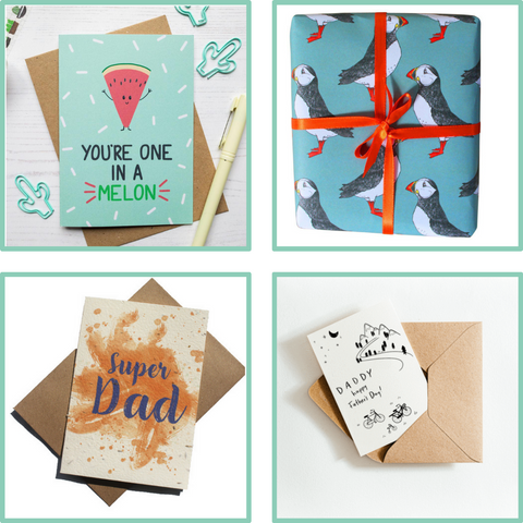 fathers day eco cards and wrap