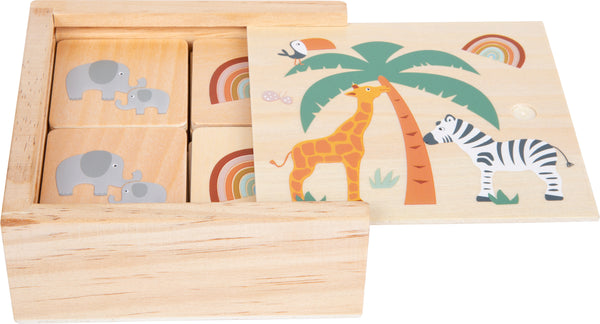 Small Foot Wooden Safari Memory Game