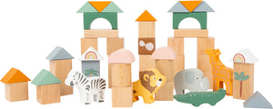 Small Foot Wooden Building Blocks - Safari