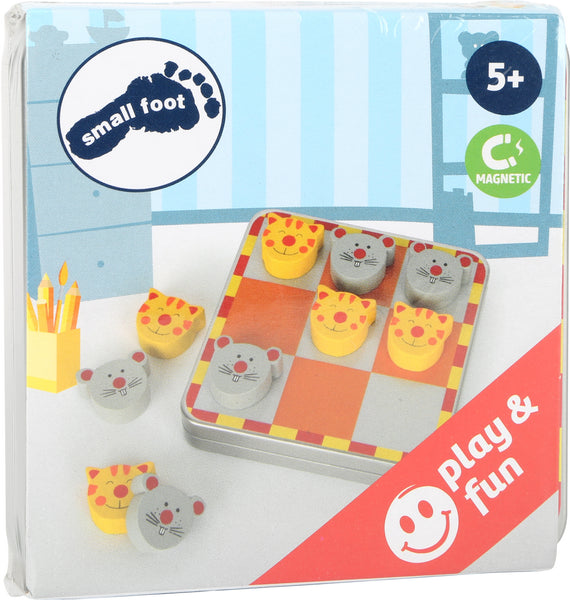 Small Foot Cat + Mouse Magnetic Tic Tac Toe in box