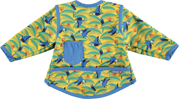 close parent stage 3 red parrot bib