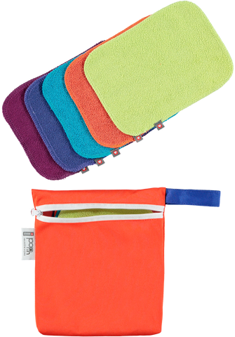 Close Reusable Bamboo Wipes - Bright - Smallkind