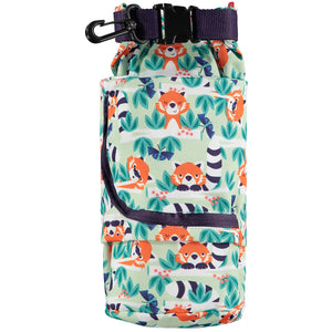 Close pop in stuff sack in red panda print