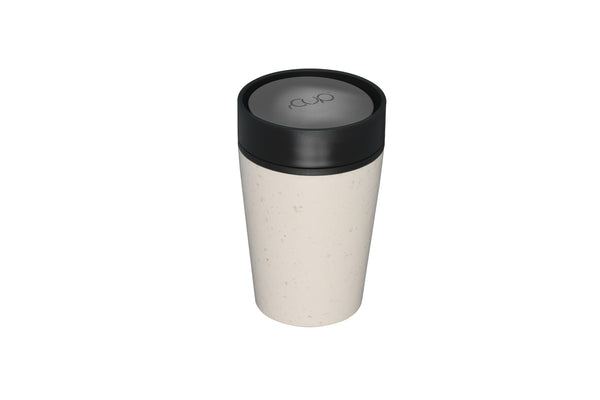 rCup Reusable Coffee Cup - Cream + Black 8oz/227ml - Smallkind