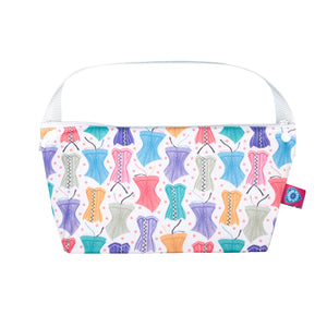 bloom and nora bathroom bag hourglass print