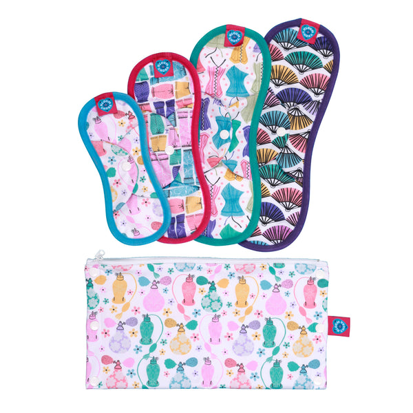 bloom + nora cloth sanitary pad trial kit