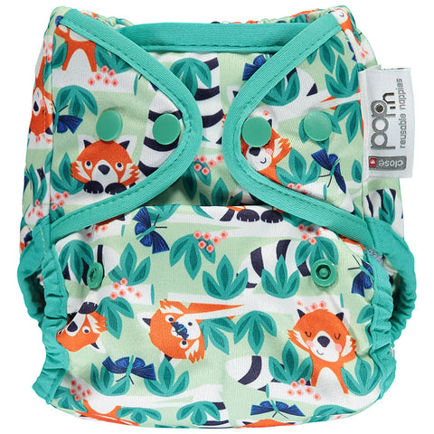 Close Pop In Red Panda Print Popper Nappy - Smallkind