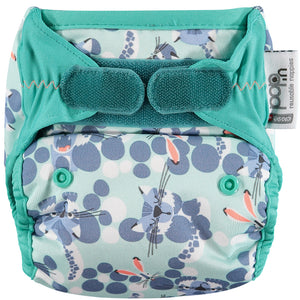 close parent pop in v2 bamboo reusable nappy - snow leopard