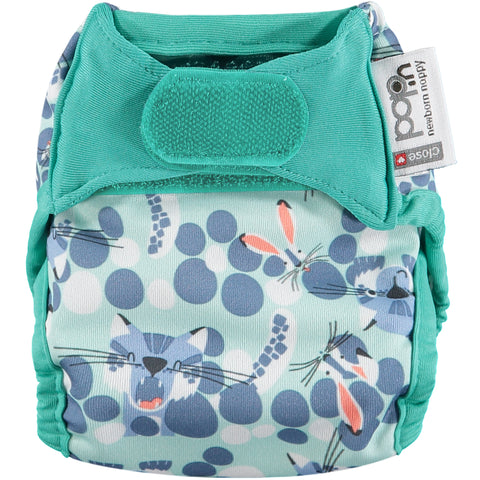 Close Pop in Newborn Nappy - Snow Leopard - Smallkind
