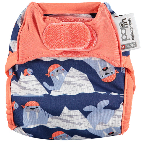 Close Pop in Newborn Nappy - Walrus - Smallkind