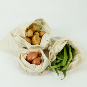 organic cotton produce bags set of three