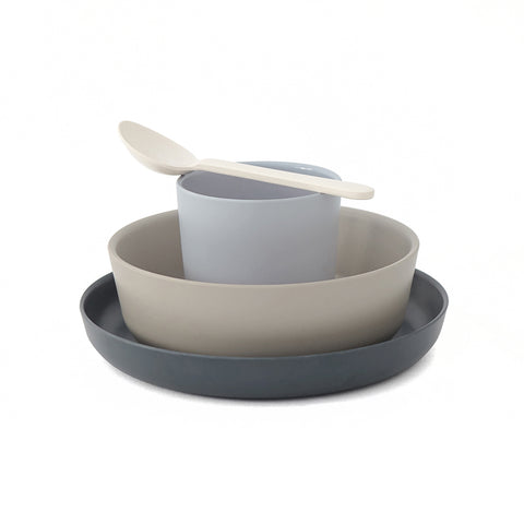 ekobo bamboo kids set - smoke grey