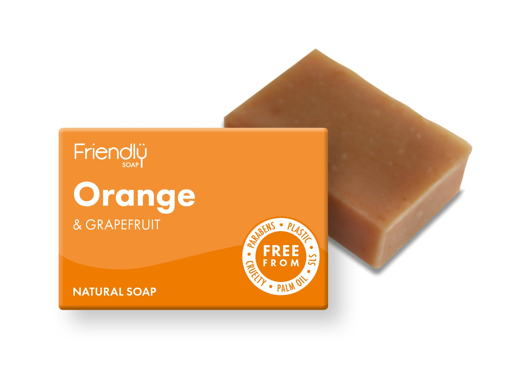orange and grapefruit soap bar by friendly soap