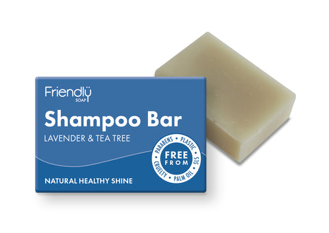 Friendly Soap lavender and tea tree shampoo bar