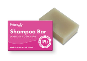 lavender and geranium solid shampoo bar
