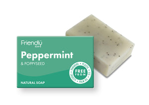 Peppermint and poppy seed soap bar