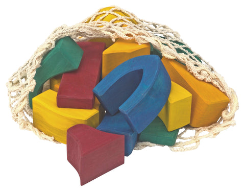 Gluckskafer Large Wooden Play Blocks - Colourful - Smallkind