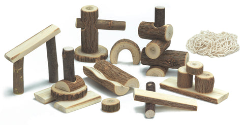 Gluckskafer Robinia Play Blocks in Net - Smallkind