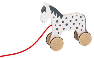 Goki Pull Along Alvah Horse - Smallkind