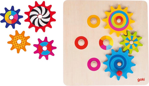 Goki colourful cogwheel game
