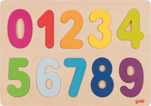 Goki Wooden Number Puzzle - Smallkind