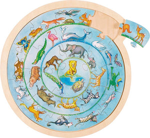 Goki Animal Circle Puzzle - Smallkind