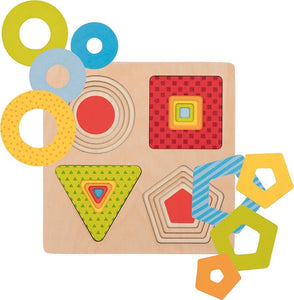 Goki Layer Puzzle - Geometric Shapes - Smallkind