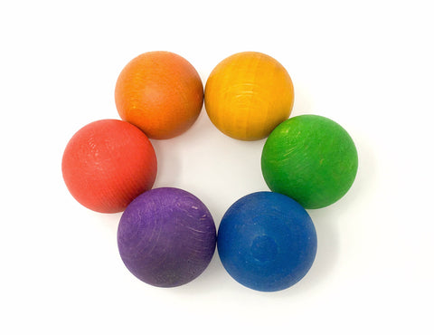 Grapat Six Balls in Rainbow Colours - Smallkind