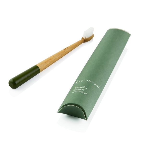 bamboo toothbrush - truthbrush olive green