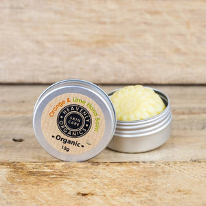 heavenly organics solid hand balm - orange and lime