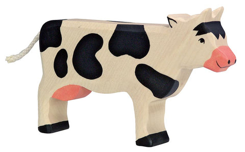 Holztiger Black Standing Cow - Smallkind