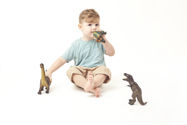 Green Rubber Toys Dinosaur Set - Smallkind