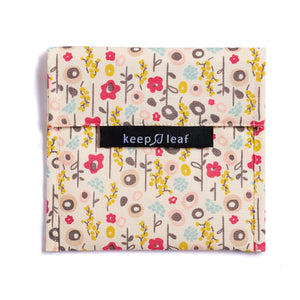 keep leaf large baggie - snack bag - sandwich bag - bloom print