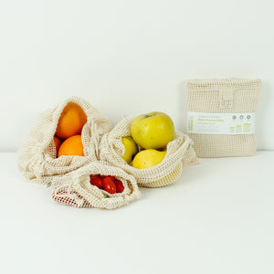 Organic Cotton Mesh Produce Bag - Set of 3 - Smallkind