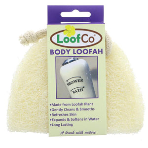 Loofco natural plastic free body loofah