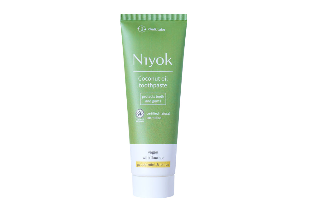 niyok natural toothpaste peppermint and lemon