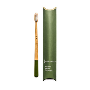 Bamboo Toothbrush - Adult Truthbrush - Olive Green - Smallkind