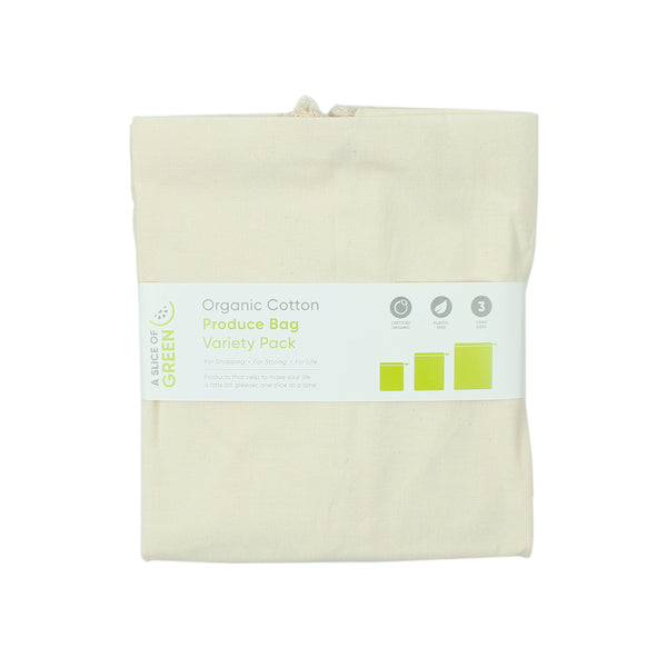 Organic Cotton Produce Bag - Set of 3 - Smallkind