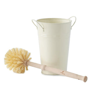 plastic free toilet brush and holder