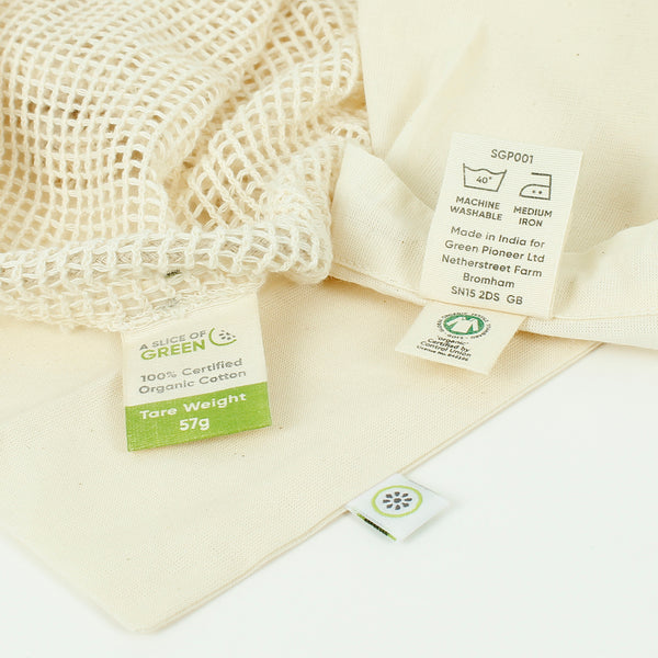 care instructions for organic cotton produce bags