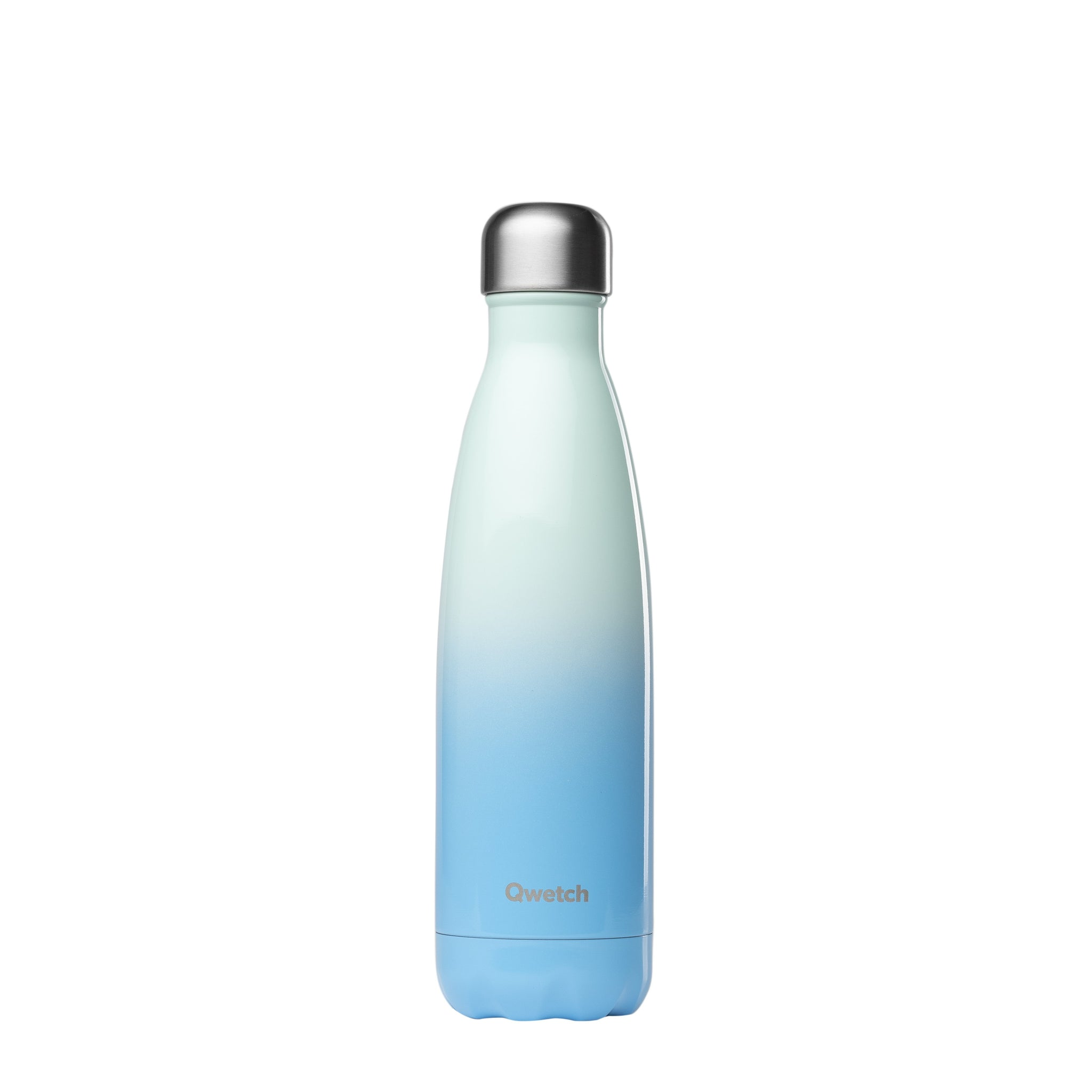 sky blue ombre stainless steel water bottle by qwetch