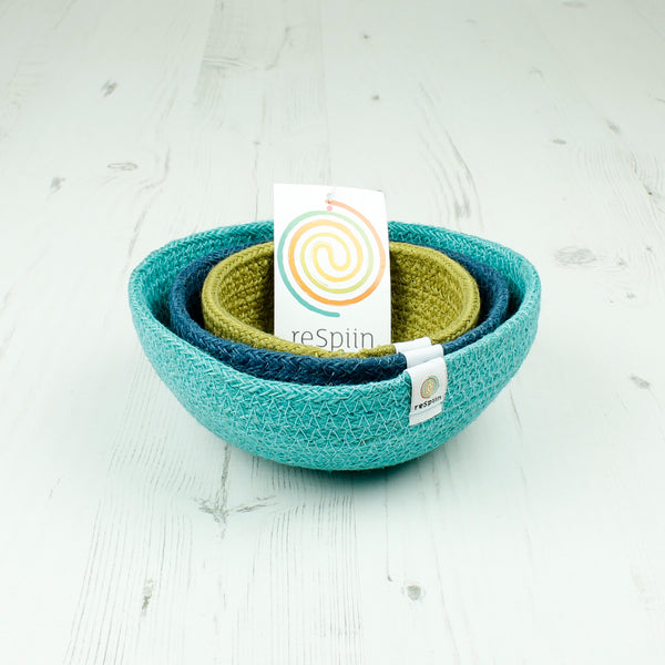 jute storage bowls for toys