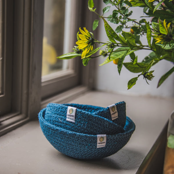 Jute Mini Bowl Set - Denim - Smallkind