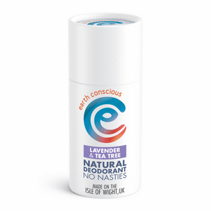 earth conscious natural deodorant stick lavender and tea tree