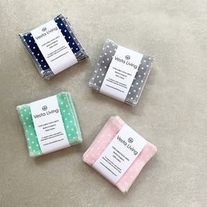 Reusable Polka Dot Face Wipes - Pack of 10 - Smallkind
