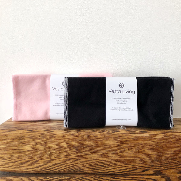 Reusable Cotton Cleaning Wipes