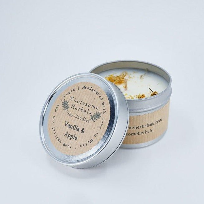 Wholesome Herbals Soy Candle - Apple + Vanilla