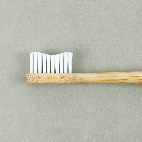 Bamboo Toothbrush - Adult Truthbrush - Cloud White - Smallkind