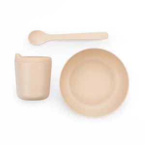 ekobo bambino baby feeding set in blush