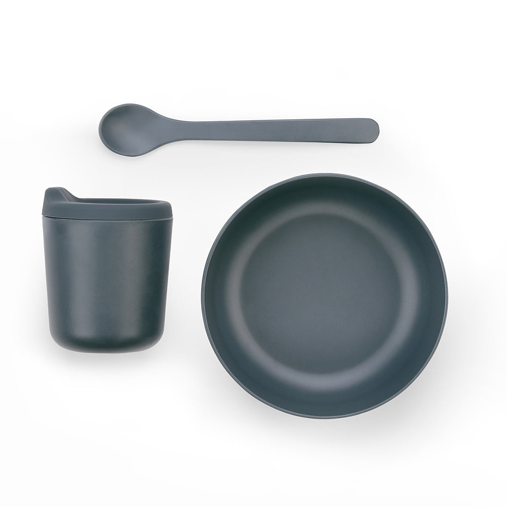 Bambino Baby Feeding Set - Storm Grey - Smallkind
